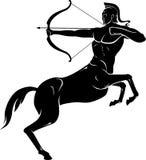 Sagittarius Symbol Silhouette Stock Image