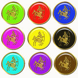 Sagittarius symbols Royalty Free Stock Photos