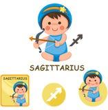 Sagittarius vector collection. zodiac signs. Illustration of isolated sagittarius vector collection. zodiac signs Royalty Free Stock Photos