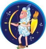 Sagittarius z łękiem i strzała Obraz Royalty Free