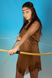 Sagittarius zodiac girl. Sagittarius or Archer woman, this photo is part of a series of twelve Zodiac signs of astrology Stock Images
