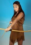 Sagittarius zodiac girl Stock Images