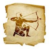 Sagittarius zodiac icon, Royalty Free Stock Images