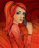 Sagittarius zodiac sign as a beautiful girl Stock Images