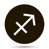 Sagittarius zodiac sign. Astrological symbol icon Stock Images