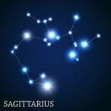 Sagittarius Zodiac Sign of the Beautiful Bright Stock Photo