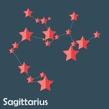Sagittarius Zodiac Sign of the Beautiful Bright Royalty Free Stock Photos