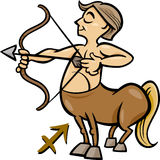 Sagittarius zodiac sign cartoon Stock Photo