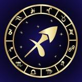 Sagittarius zodiac sign in circle frame Stock Photo