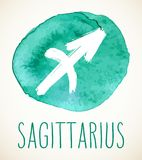 Sagittarius Zodiac sign design element Royalty Free Stock Photos