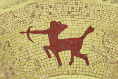 Sagittarius. Zodiac sign in a mosaic style Royalty Free Stock Image