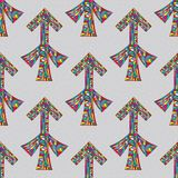 Sagittarius zodiac sign seamless pattern. Horoscope magic symbol background. Hand drawn astrological colorful  texture for w Stock Photography