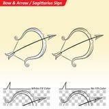 Sagittarius Zodiac Star Sign Sketch Stock Photography