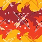 Sagittarius - zodiaka bezszwowy wzór Obraz Royalty Free