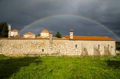 Sagmata kloster i Attica, Grekland Arkivbild