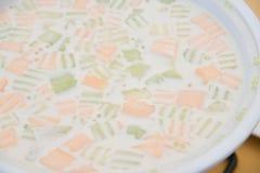 Sago in Coconut milk with melon stock image