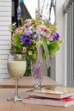 Sago in fresh milk Stock Image