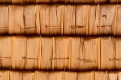 Sago Leaf Woven Roof Royalty Free Stock Images