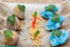 Sago pork, Thai Dessert and Appetizer Royalty Free Stock Photos