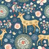 sagolik blommatextur för hjortar Arkivfoto