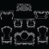 Sagolik Rich Baroque Rococo möblemanguppsättning Royaltyfria Bilder