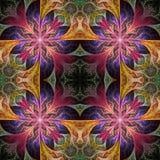 Sagolik sömlös bakgrund i mosaikstil Du kan använda det för Arkivfoton