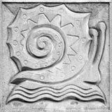 Sagolik snigel, basrelief Fotografering för Bildbyråer