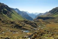 Sagolikt landskap i Nya Zeeland fotografering för bildbyråer