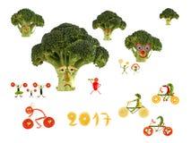 Sagolikt sportland som göras av frukter och grönsaker Royaltyfri Fotografi