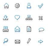 Sagomi le icone di base di Web Fotografie Stock