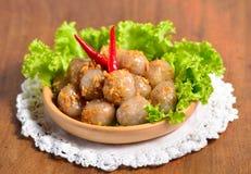 Sagou de Kanom ; Dessert thaïlandais ; amidon pulvérulent de certaine paume de sagou Photographie stock libre de droits