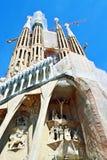Sagrada修建建设中巴塞罗那的Familia 免版税库存照片