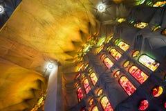 Sagrada红色玻璃 库存照片