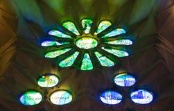 Sagrada绿色和蓝色 库存图片