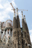 Sagrada建设中的Familia 免版税库存照片
