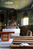 Sagrada Biblia en iglesia Imágenes de archivo libres de regalías