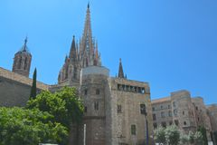 Sagrada cathedral Barcelona. Sagrada Famila cathedral in Barcelona, Spain Stock Photography