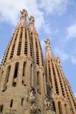 sagrada för barcelona familiala torn Arkivbilder