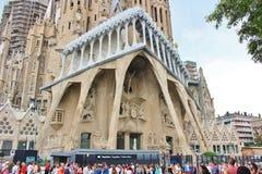 Sagrada Família, Barcelona. The Sagrada Familia - The Holy Family - is a catholic basilica in Barcelona, Catalonia, dating back to 1882 and royalty free stock image