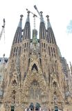 Sagrada Família, Barcelona. The Sagrada Familia - The Holy Family - is a catholic basilica in Barcelona, Catalonia, dating back to 1882 and royalty free stock images