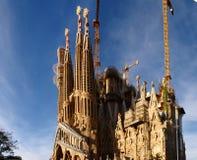 Sagrada FamÃlia圣洁家庭-大教堂建设中 免版税库存图片