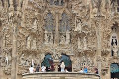 Sagrada FamÃlia,巴塞罗那 免版税库存照片