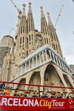 Sagrada FamÃlia, Barcelona Fotografia de Stock Royalty Free