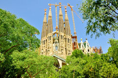 Sagrada Família。Barselona。西班牙。 免版税库存照片