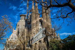 Sagrada Família Stockfotos