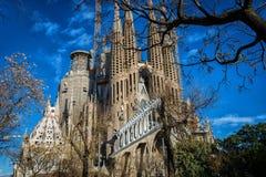Sagrada Família. Barcelona City Tour January 2017 Stock Photos