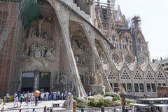 Sagrada Família. BARCELONA, SPAIN - JULY 12, 2013: The Basilica i Temple Expiatori de la Sagrada Familia - a large Roman Catholic church in Barcelona Stock Images