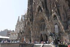 Sagrada Família. BARCELONA, SPAIN - JULY 12, 2013: The Basilica i Temple Expiatori de la Sagrada Familia - a large Roman Catholic church in Barcelona Stock Photography