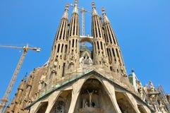 Sagrada Família. Barselona. Spanien. Fotografering för Bildbyråer