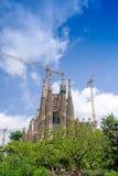 Sagrada Familia在巴塞罗那西班牙 库存照片